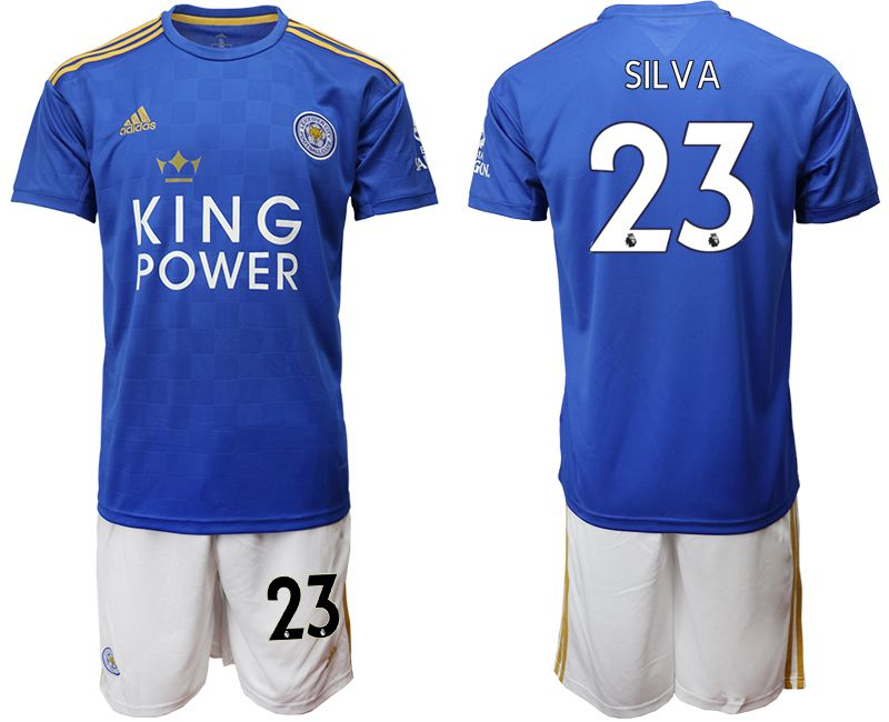 Men 2019-2020 club Leicester City home 23 blue Soccer Jerseys