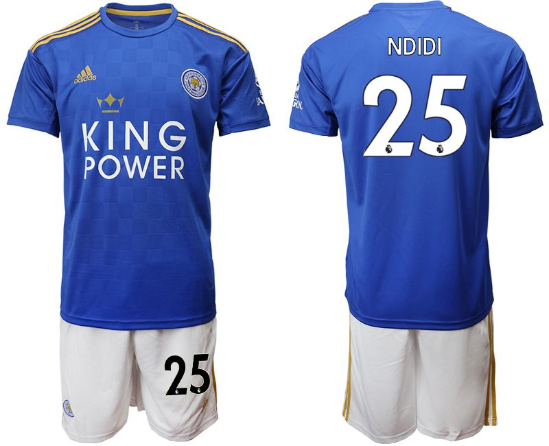 Men 2019-2020 club Leicester City home 25 blue Soccer Jerseys