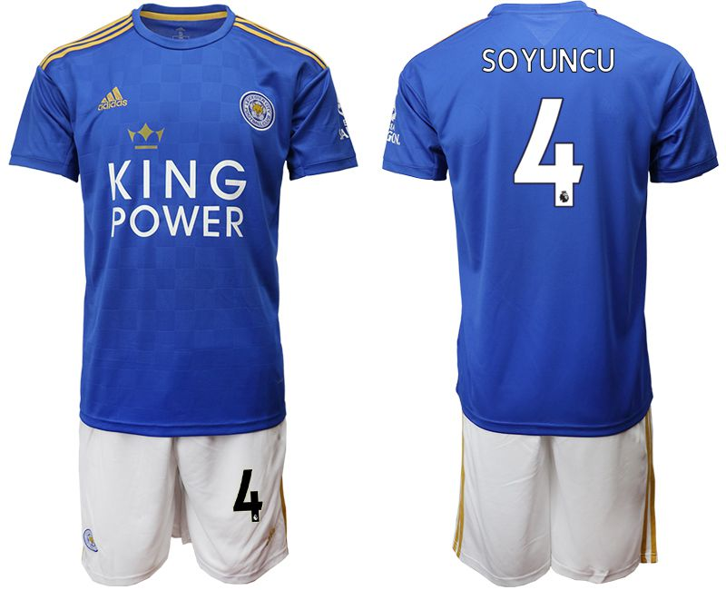 Men 2019-2020 club Leicester City home 4 blue Soccer Jerseys