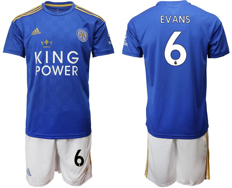 Men 2019-2020 club Leicester City home 6 blue Soccer Jerseys
