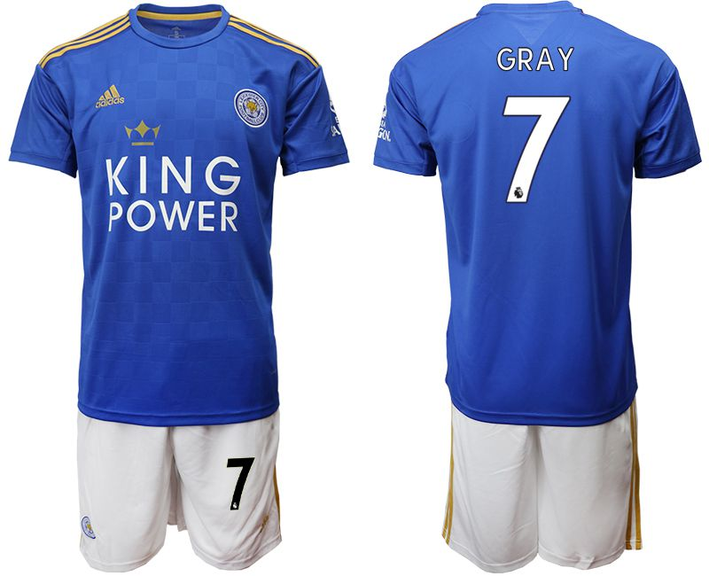 Men 2019-2020 club Leicester City home 7 blue Soccer Jerseys