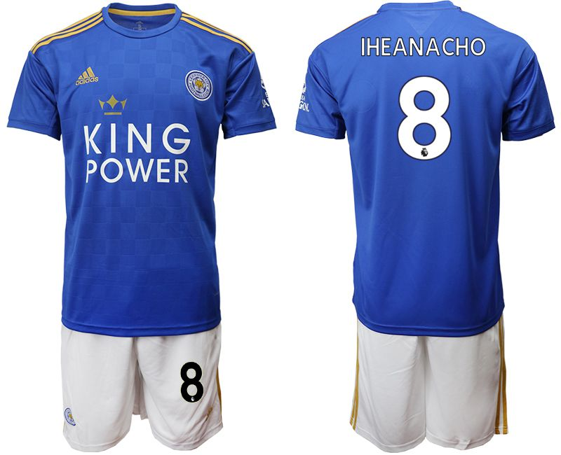 Men 2019-2020 club Leicester City home 8 blue Soccer Jerseys