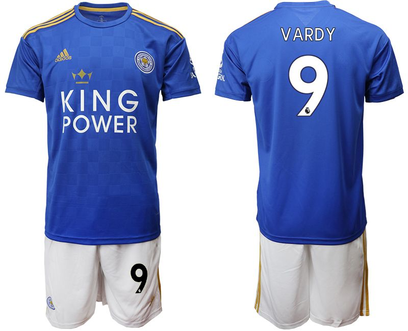 Men 2019-2020 club Leicester City home 9 blue Soccer Jerseys