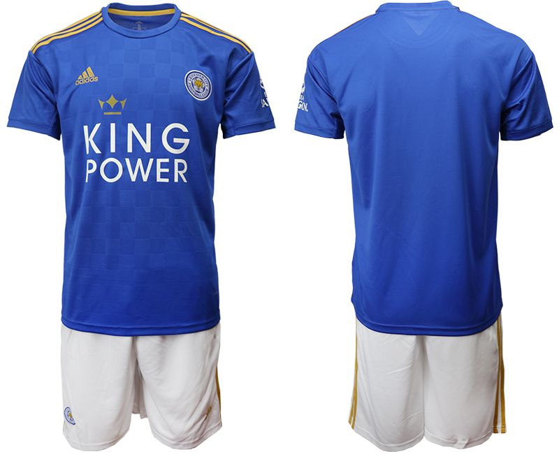 Men 2019-2020 club Leicester City home blue Soccer Jerseys