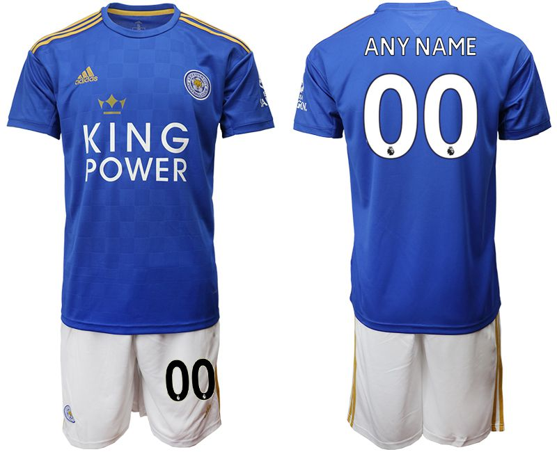 Men 2019-2020 club Leicester City home customized blue Soccer Jerseys