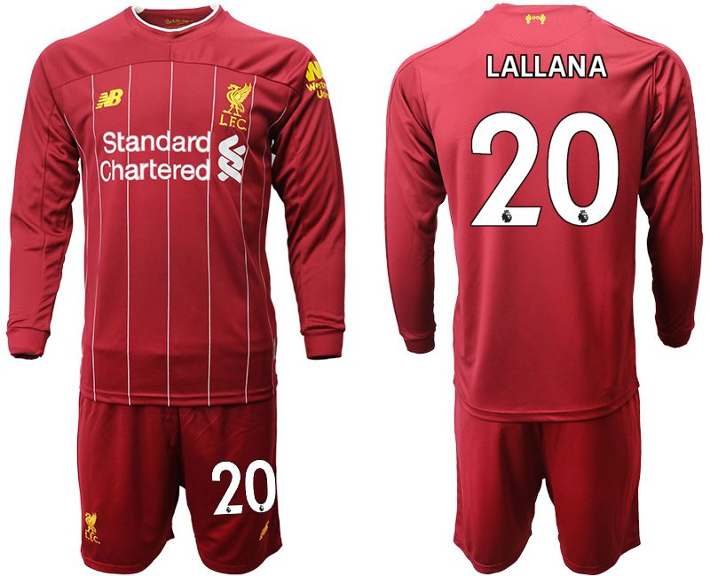 Men 2019-2020 club Liverpool home long sleeves 20 red Soccer Jerseys
