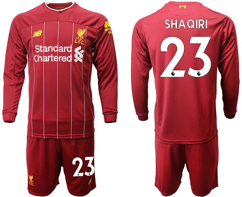 Men 2019-2020 club Liverpool home long sleeves 23 red Soccer Jerseys