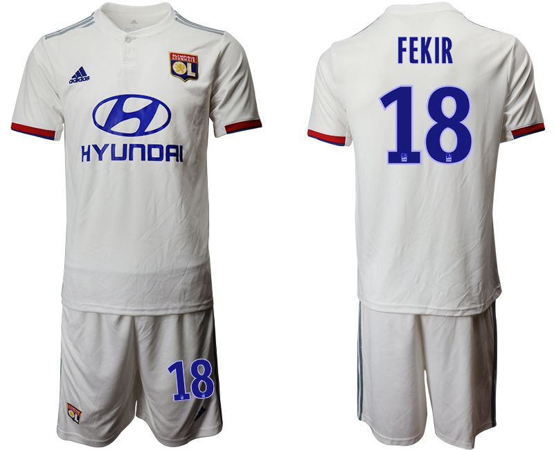 Men 2019-2020 club Lyon home 18 white Soccer Jerseys