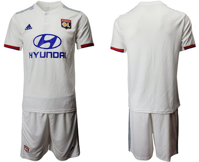 Men 2019-2020 club Lyon home white Soccer Jerseys