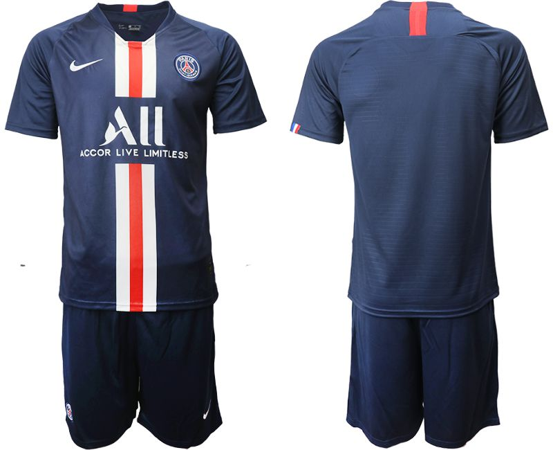 Men 2019-2020 club Paris St Germain home blue Soccer Jerseys