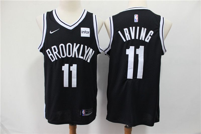 Men Brooklyn Nets 11 Irving Black Nike Game NBA Jerseys