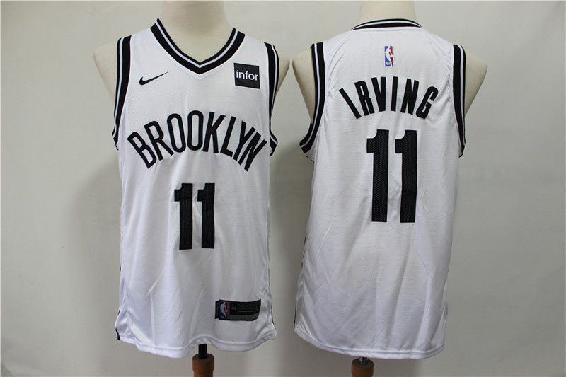 Men Brooklyn Nets 11 Irving White Nike Game NBA Jerseys