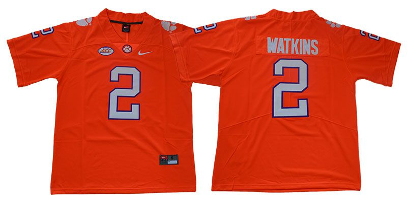 Men Clemson Tigers 2 Watkins Orange Nike Limited Stitched NCAA Jersey