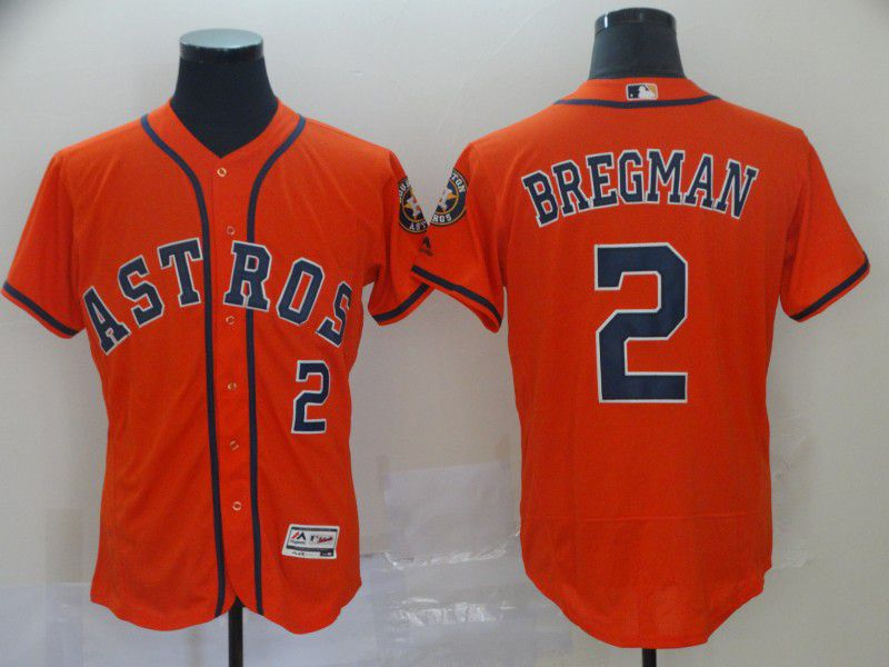 Men Houston Astros 2 Bregman Orange Elite MLB Jerseys