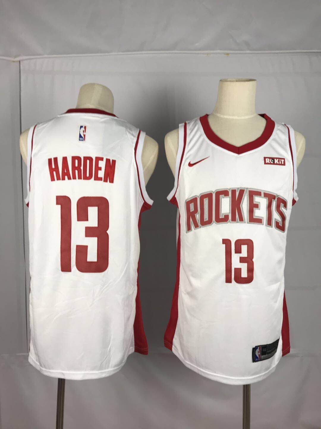Men Houston Rockets 13 Harden White Game NBA Nike Jerseys