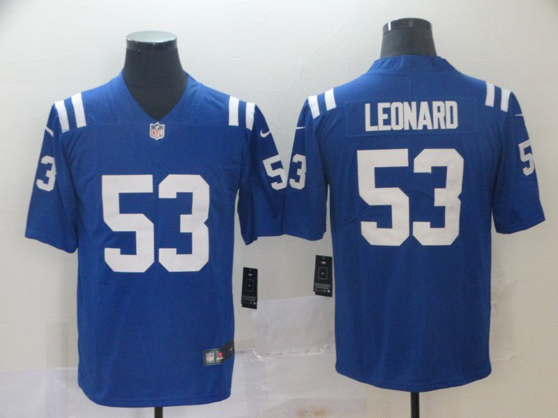 Men Indianapolis Colts 53 Leonard Blue Nike Vapor Untouchable Limited Player NFL Jerseys