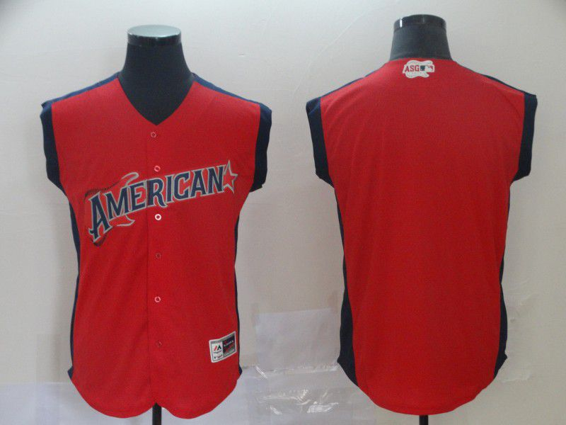 Men Los Angeles Angels Blank Red 2019 All Star MLB Jerseys