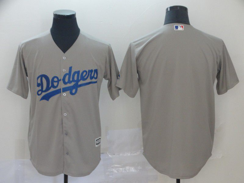 Men Los Angeles Dodgers Blank Grey Game MLB Jerseys