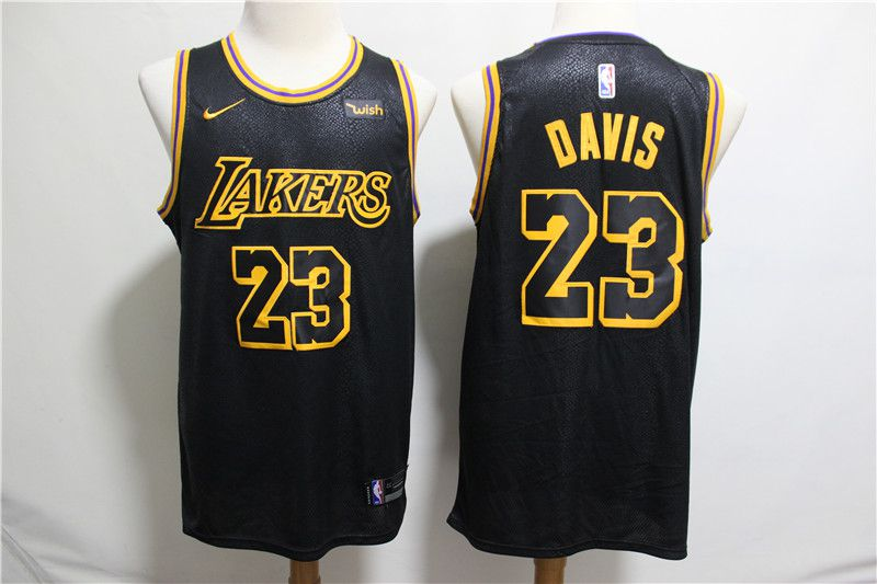 Men Los Angeles Lakers 23 Davis Black City Edition Nike NBA Jerseys