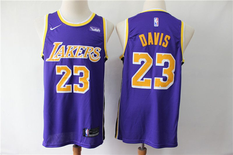 Men Los Angeles Lakers 23 Davis Purple Game Nike NBA Jerseys