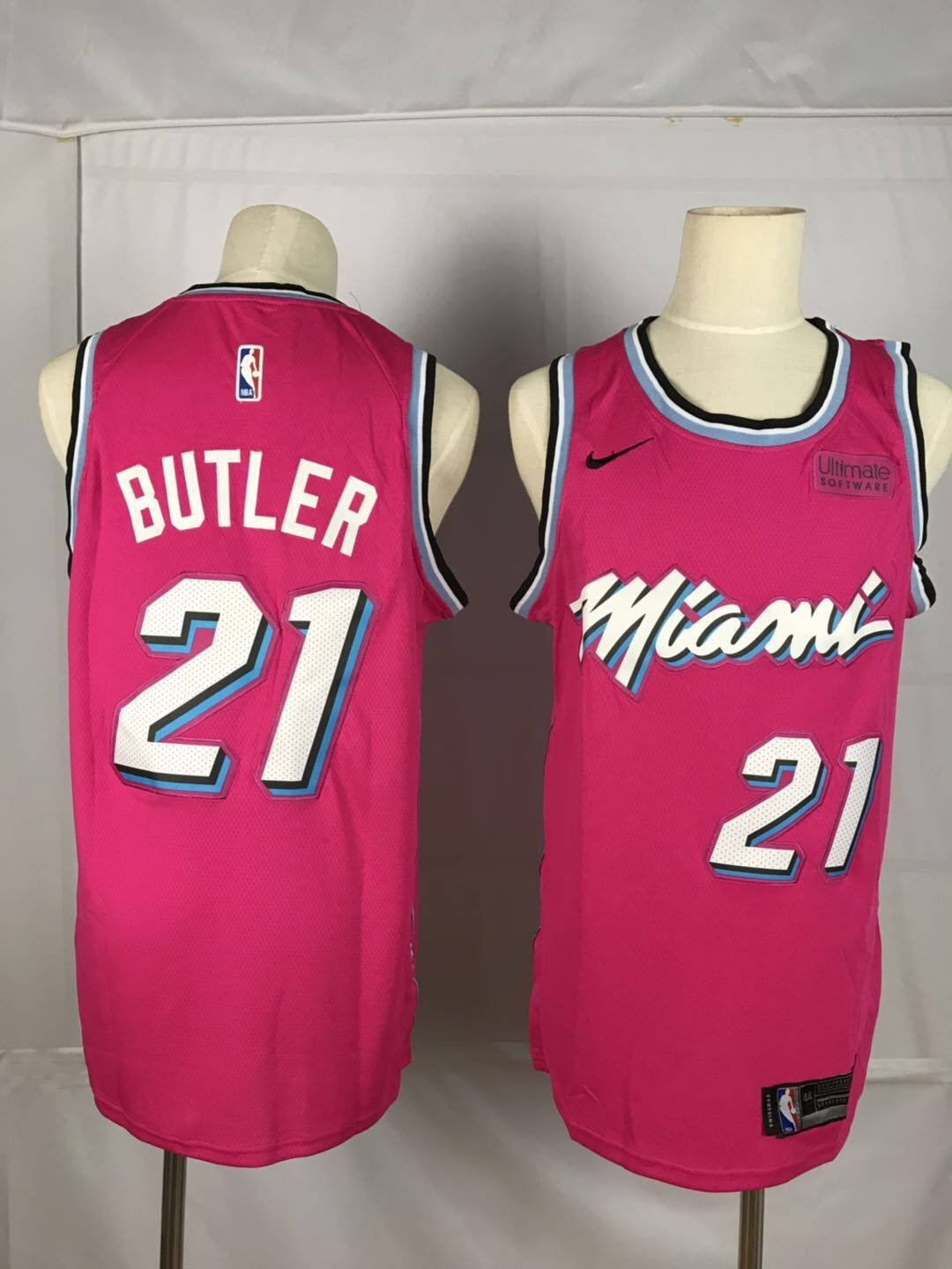 Men Miami Heat 21 Butler Red City Edition Game Nike NBA Jerseys