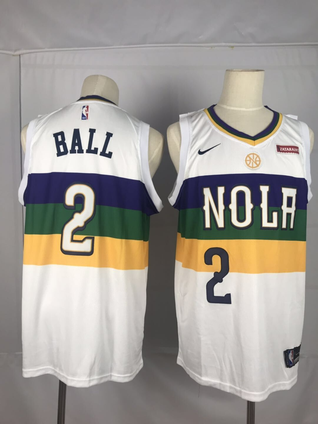 Men New Orleans Pelicans 2 Ball White City Edition Nike NBA Jerseys