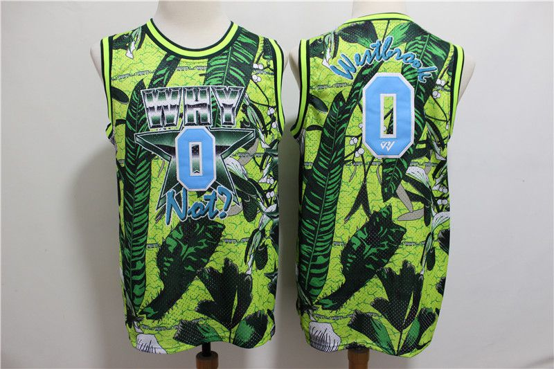 Men Oklahoma City Thunder 0 Westbrook Green Painted Limited Edition NBA Jerseys