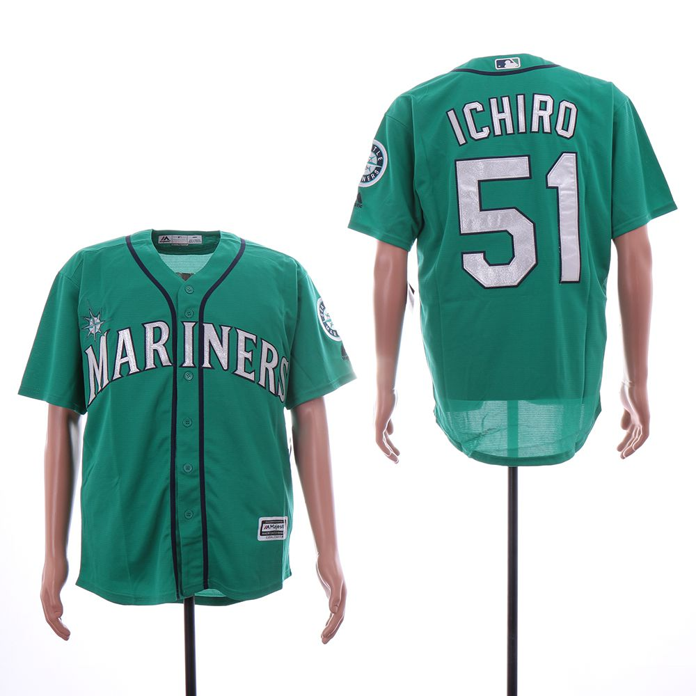 Men Seattle Mariners 51 Ichiro Green Game MLB Jersey