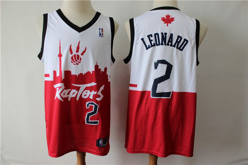 Men Toronto Raptors 2 Leonard white red city editon NBA Jerseys