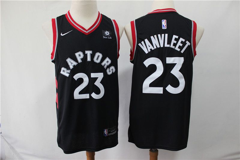 Men Toronto Raptors 23 Vanvleet Black Game Nike NBA Jerseys