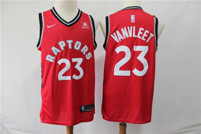 Men Toronto Raptors 23 Vanvleet Red Game Nike NBA Jerseys