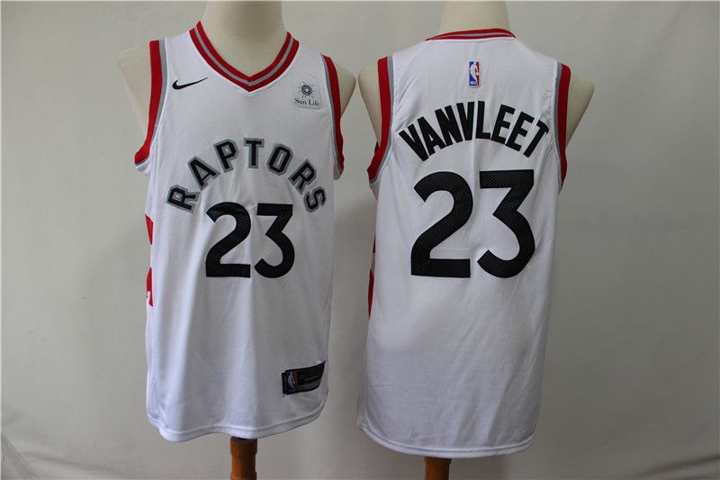 Men Toronto Raptors 23 Vanvleet White Game Nike NBA Jerseys