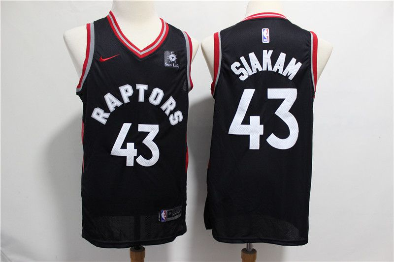 Men Toronto Raptors 43 Siakam Black Nike NBA Jerseys