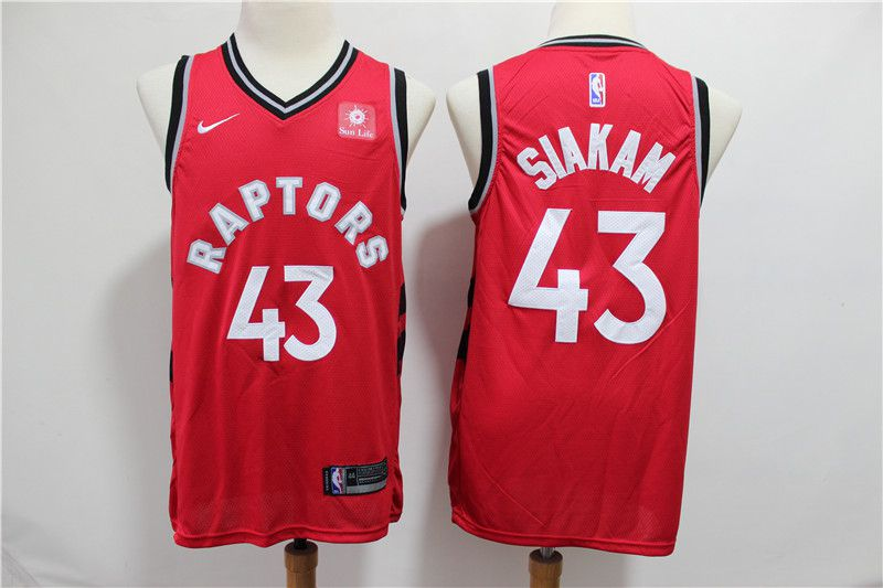 Men Toronto Raptors 43 Siakam Red Game Nike NBA Jerseys