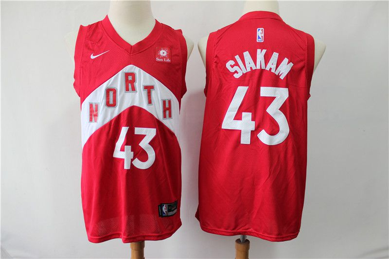 Men Toronto Raptors 43 Siakam red City Edition Nike NBA Jerseys