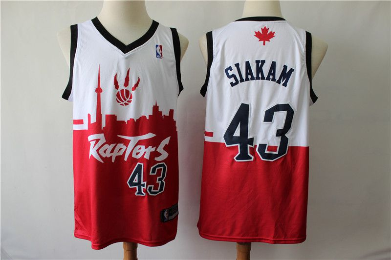 Men Toronto Raptors 43 Siakam white red city editon NBA Jerseys