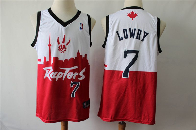 Men Toronto Raptors 7 Lowry white red city editon NBA Jerseys