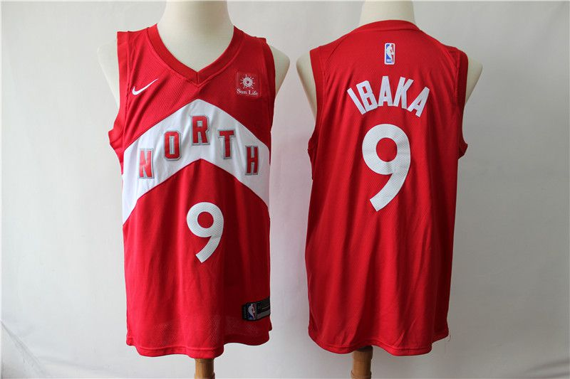 Men Toronto Raptors 9 Ibaka Red City Edition Nike NBA Jerseys
