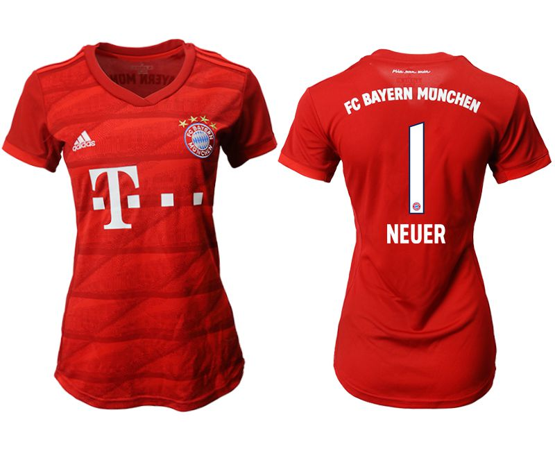 Women 2019-2020 club Bayern Munich home aaa version 1 red Soccer Jerseys