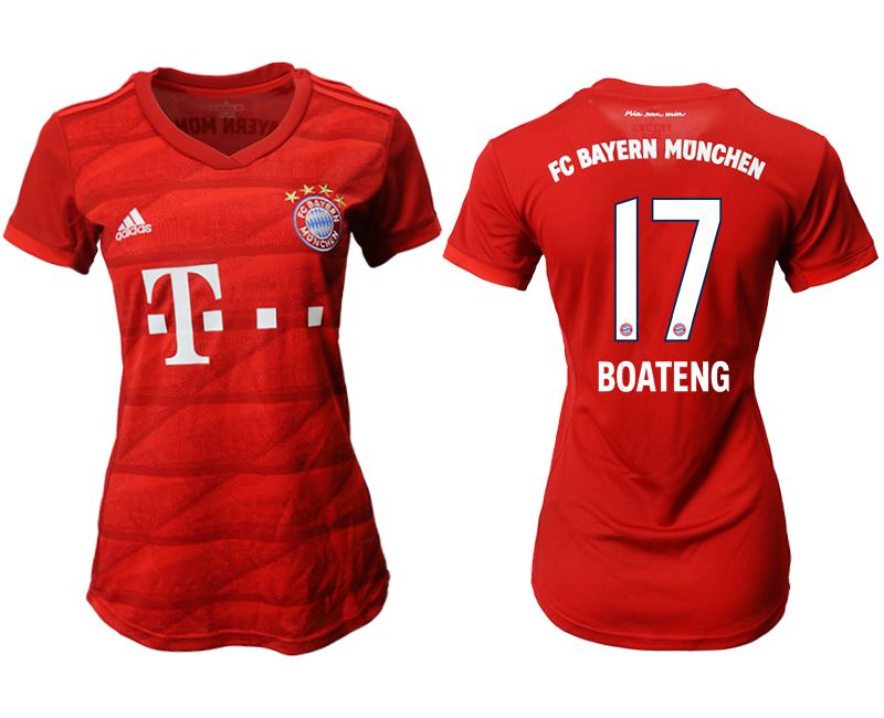 Women 2019-2020 club Bayern Munich home aaa version 17 red Soccer Jerseys