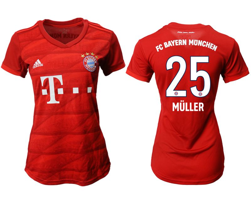 Women 2019-2020 club Bayern Munich home aaa version 25 red Soccer Jerseys