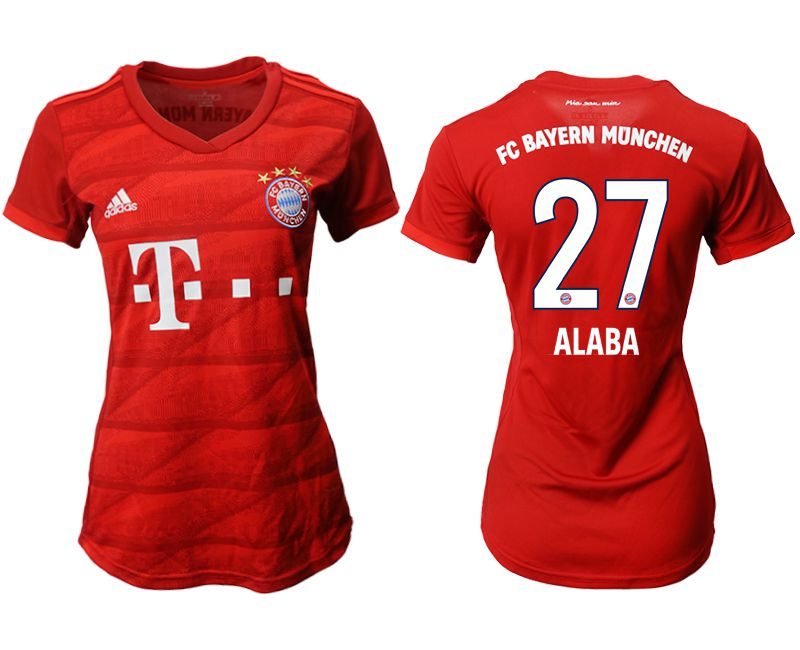Women 2019-2020 club Bayern Munich home aaa version 27 red Soccer Jerseys