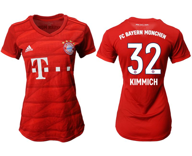 Women 2019-2020 club Bayern Munich home aaa version 32 red Soccer Jerseys