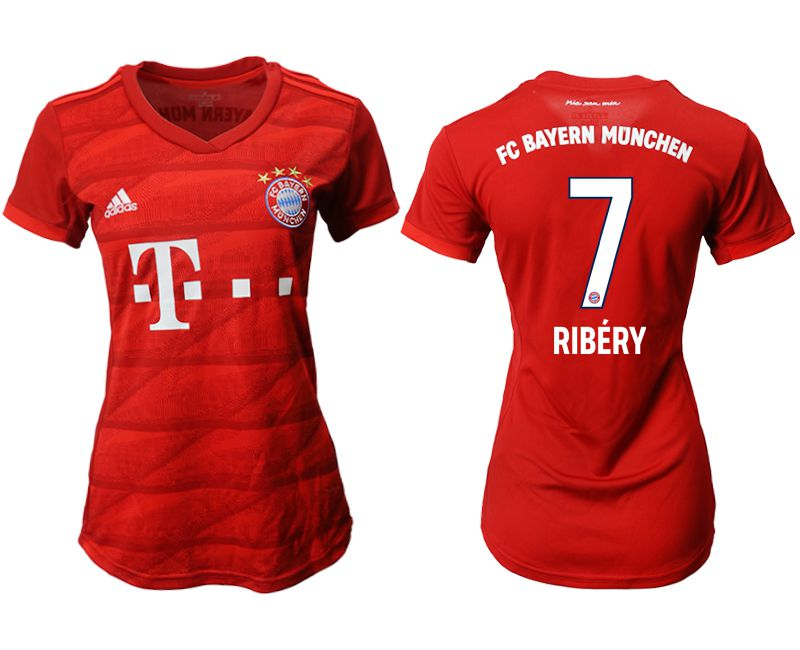 Women 2019-2020 club Bayern Munich home aaa version 7 red Soccer Jerseys