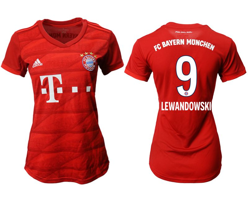 Women 2019-2020 club Bayern Munich home aaa version 9 red Soccer Jerseys