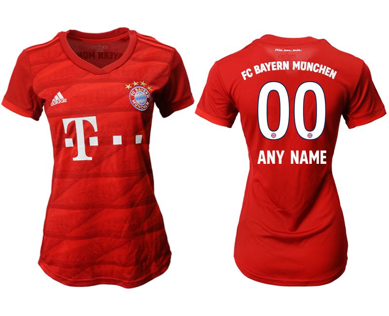 Women 2019-2020 club Bayern Munich home aaa version customized red Soccer Jerseys