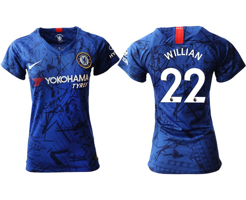 Women 2019-2020 club Chelsea home aaa version 22 blue Soccer Jerseys