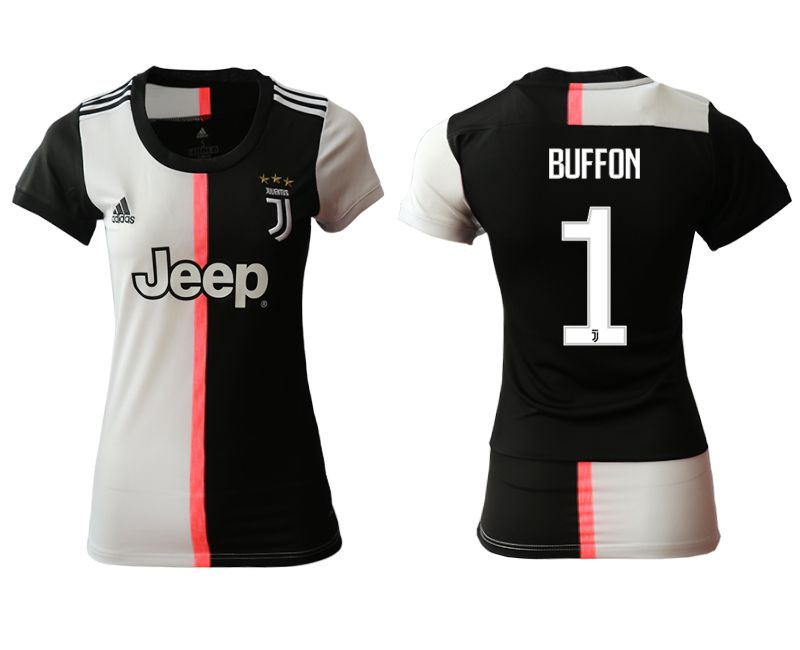 Women 2019-2020 club Juventus home aaa version 1 black Soccer Jerseys