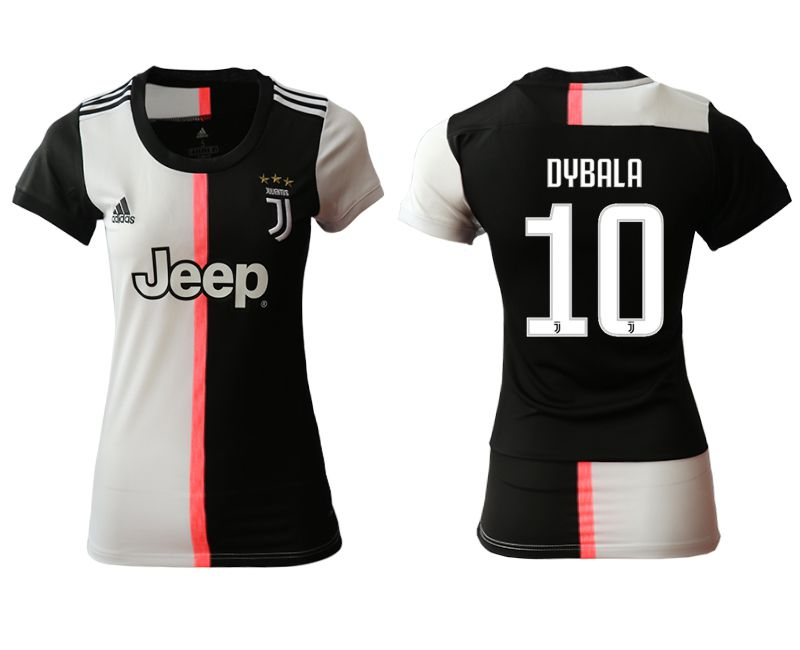 Women 2019-2020 club Juventus home aaa version 10 black Soccer Jerseys