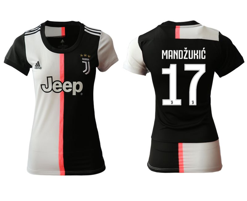 Women 2019-2020 club Juventus home aaa version 17 black Soccer Jerseys